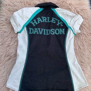 Women's Harley Davidson motorcycle shirt